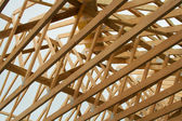 Roof Rafters Close — Stock Photo
