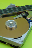 Hard disk and RAM memory — Stock Photo