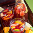 Red wine Sangria - Stock Photo