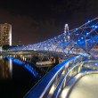 Double Helix Bridge in Singapore at Night — Stock Photo #6680267