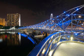 Double Helix Bridge in Singapore at Night — Stock Photo
