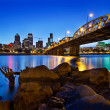 Portland Oregon Skyline at Blue Hour — Photo