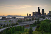 Seattle Washington Downtown City Sunset — Stock Photo