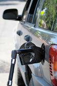 Pump Filling Up the Car Gas Tank — Stock Photo