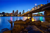 Portland Oregon Skyline at Blue Hour — Stock Photo