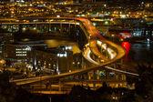 City of Portland Light Trails on Marquam Freeway — Stock Photo