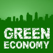Green Economy City Skyline — Stock Photo