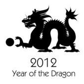 Nouvel an chinois le clipart dragon 2012 — Photo