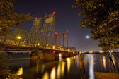 Columbia River Crossing Interstate Bridge at Night — Stock Photo