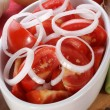 Royalty-Free Stock Photo: Fresh summer salad with tomatoes and onion rings