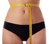 Female waist measuring — Stock Photo