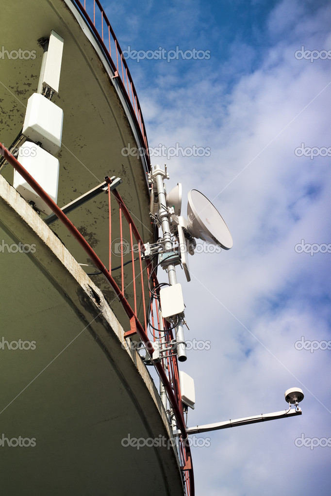 Mobile telephony and telecommunication - GSM technology — Stock Photo #6721408