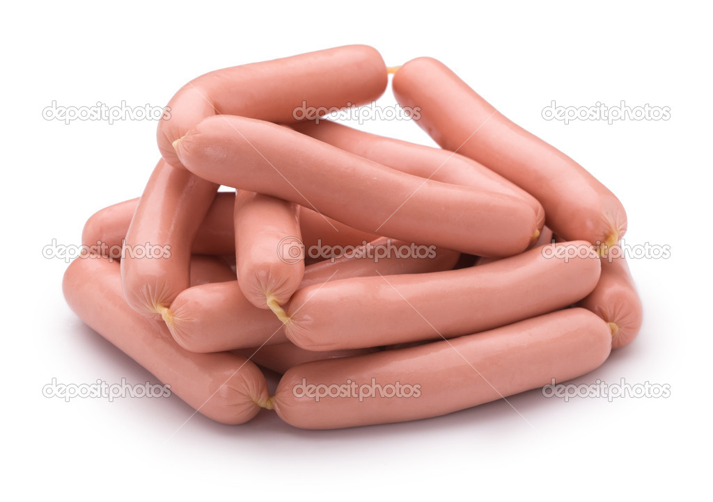 Sausage on a white background isolated — Stock Photo #6707841