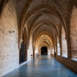 "Stock Photo: Inner cloister at the ""Monasterio de Piedra"""