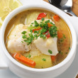 Conger soup - Stock Photo