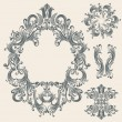 Vintage floral frames set — Stock Vector #6720828
