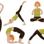 Yoga girls — Stock Vector