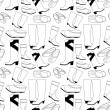 Royalty-Free Stock Vector Image: Seamless shoes pattern