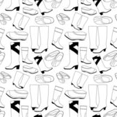 Seamless shoes pattern — Stock Vector