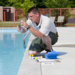 Active Pool  Chemical Testing — Stock Photo