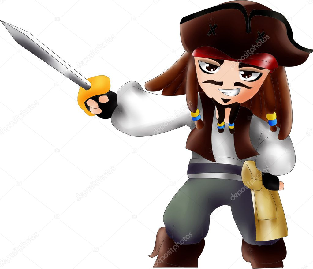 Jack Sparrow chibi version  Stock Photo #6744786