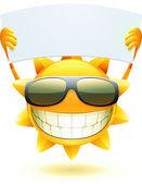 Soleil d'été heureux