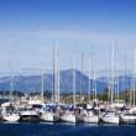 thumbnail of Many yachts lying at dock