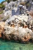 Splendid view of ruins ancient town. Turkey.