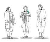 Egy ember, egy régi öltönyt, egy üveg
