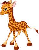 Illustration of little funny giraffe Calf