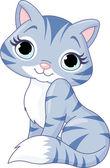 Illustration of very cute kitten