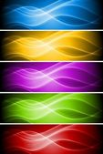 Abstract wavy banners collection Vector illustration eps 10