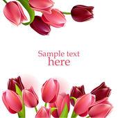 Květinové rám s tulipány