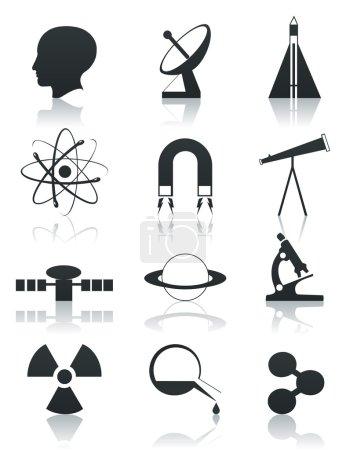 Постер, плакат: Science icon2, холст на подрамнике