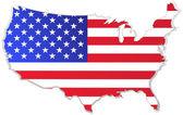 Amerikai Egyesült Államok Térkép-val zászló