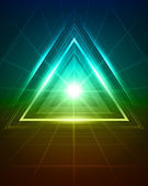 3D abstract triangle tunnel vector background eps 10