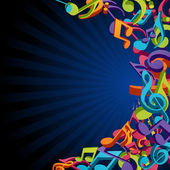 Colorful music notes vector background eps 10