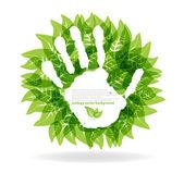 Nature conceptstop hand print
