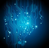 Circuit board vector blue abstract background