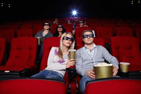 Постер, плакат: Watch movies in cinema, холст на подрамнике