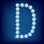 Vector Diamond alphabet Title letter Title letter