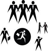 Satz von Business Icons auf weiß