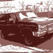 thumbnail of vector grunge urban background with a car
