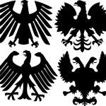 Постер, плакат: Heraldic eagles collection