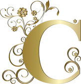 Capital letter C gold