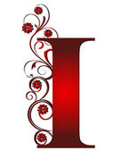 Capital letter I red