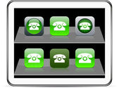 Free call Set of apps icons Vector illustration doesn't contain transparency and other effects EPS8 Only