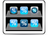 Percent Set of apps icons Vector illustration doesn't contain transparency and other effects EPS8 Only