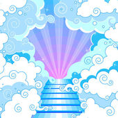 Stairway to heaven in the clouds