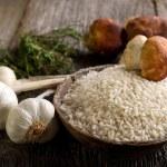 thumbnail of Raw rice  and cep mushroom